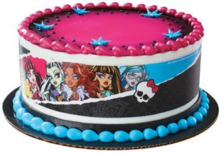 monster high girls edible cake topper party supplies strip decoration