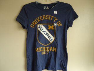 Michigan Wolverines Football Old Navy Womens T Shirt  New