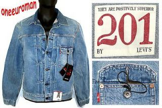 LEVIS 201 LIMITED EDITION PRODUCTS WITH ROOTS TYPE II BLUE DENIM