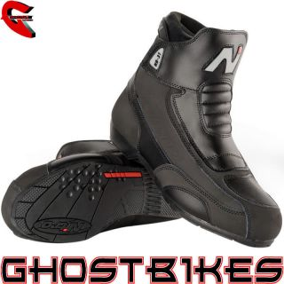 31 SHORT LEATHER CRUISER STREET MOTORBIKE MOTORCYCLE BOOTS GHOSTBIKES