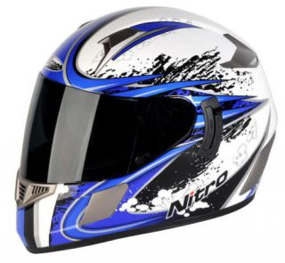 new nitro nsfp alien motorcycle crash helmet blue more options