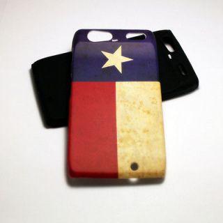 HYBRID SILICONE COVER CASE FOR MOTOROLA DROID RAZR XT912 TEXAS FLAG