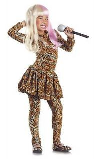 Leopard Print Bodysuit Nicki Minaj Costume Dress Child Kids Girl