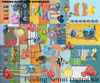 disney finding nemo digital scrapbooking kit new