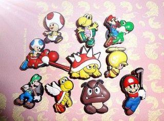 Super Mario Bros Shoe Charm 10pcs Jibbitz Flying Mario Yoshi