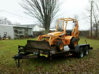 2005 ALLMAND TLB 325 25hp MINI BACKHOE EXCAVATOR W/ NEW 5 TON TRAILER