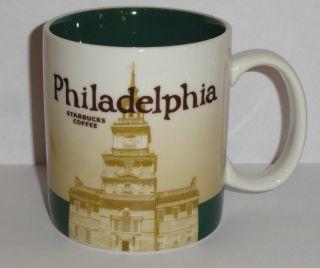 NEW Starbucks City Collection Coffee Mug USA    Philadelphia