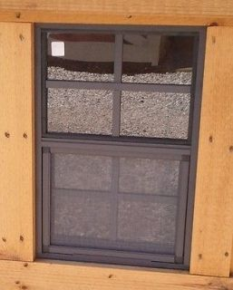 Small Brown Tree House Window 14 X 21 #TH1421FB, Safety Glass New