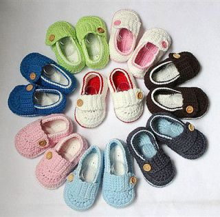 Lovely Cute Handmade Crochet Shoes Newborn Baby Boy Girl Photograph