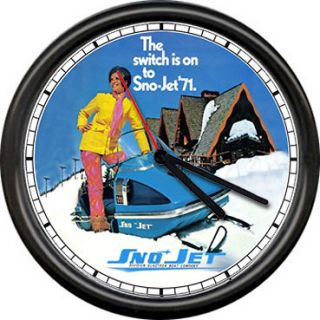 Sno Jet SST 1971 Snowjet Snowmobile Racing Dealer Retro Vintage Sign