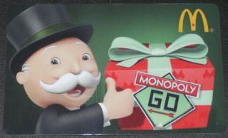 Canada MONOPOLY 2012 GIFT CARD ARCH BILINGUAL NEW McDonalds No Value