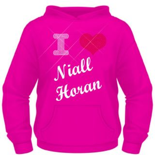Ladies Diamante I Love ( Heart ) Niall Horan (One Direction) hoodie XS