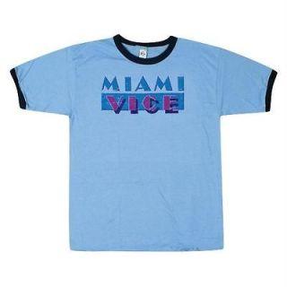 miami vice logo ringer t shirt