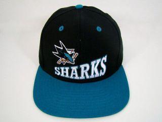 san jose sharks snapback hat black delta logo nhl