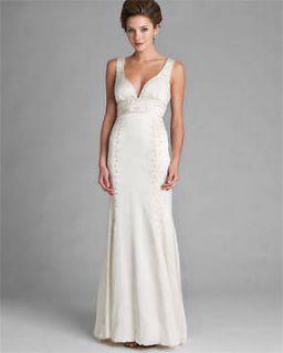 Simple wedding dress for the beach wedding nuance for Nicole miller beach wedding dress