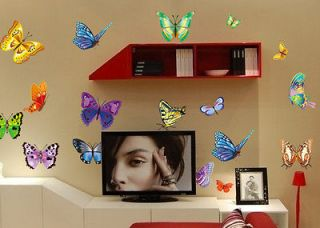 Multi color Butterfly Wall Sticker Decor Decal Removable Art Kids