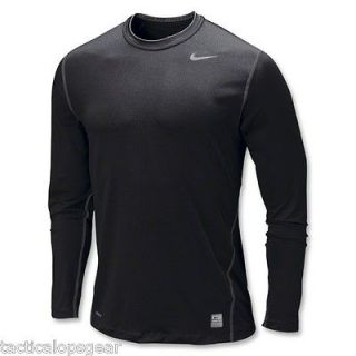 New Nike Dri Fit Pro Combat Core Base Layer T Shirt Black L/S Tight