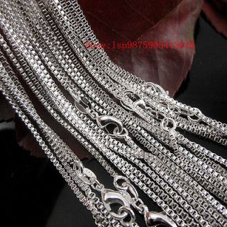 wholesale lots 10pcs 1 4mm sterling silver box chain necklace
