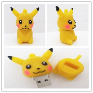Pikachu 2.0 USB Flash Memory Pen Thumb Drive Stick 4/8/16GB MS072