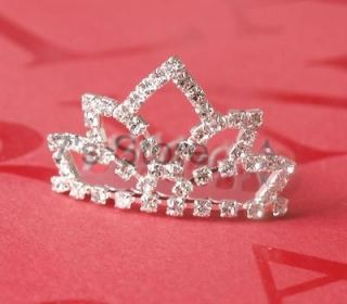 Princess Bridal Girl Tiara Wedding Prom Crystal Rhinestone Crown Hair