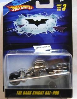 HOT WHEELS BATMAN THE DARK KNIGHT MOVIE   batpod BAT POD MOTORCYCLE