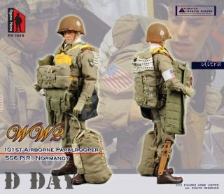 FIGURE HOME WWII Normandy D DAY US 101st Airborne Paratrooper 1/6