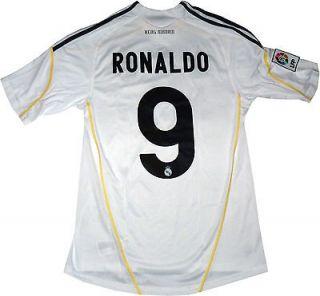 NEW REAL MADRID JERSEY CRISTIANO RONALDO # 9 MEN SIZE (LARGE) WHITE