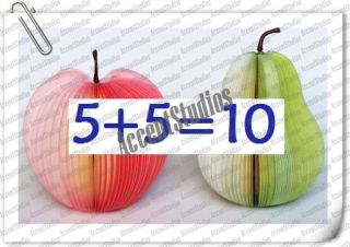 10 paper note pad japanese memo book apple pear shaped