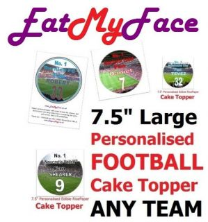 Personalised Edible Birthday Cake Topper ANY CHAMPIONSHIP