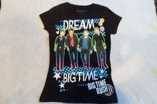 NEW DREAM BIG TIME RUSH SPARKLEY GLITTER SHIRT GIRLS SIZE LARGE 10