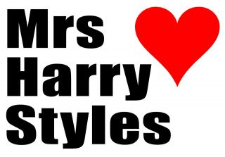 A5 Iron on T Shirt Transfer   Mrs ONE DIRECTION ( All band members )