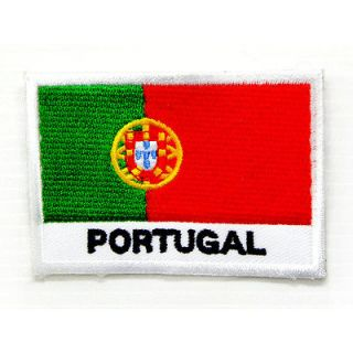 I0191 Portugal Portugese Flag 2x3 Sew or Iron On Patch Embroidered