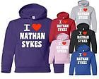 LOVE NATHAN SYKES ~ THE WANTED ~ GIRLS/KIDS HOODIE ~ 6 COLOURS AGE