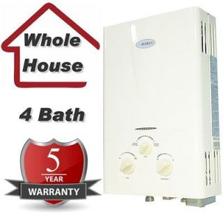 Natural Gas Tankless Hot Water Heater  Instant On Demand Whole House
