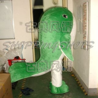 green CARTOON Whale MASCOT COSTUME R00386 Fancy Dress adult one size