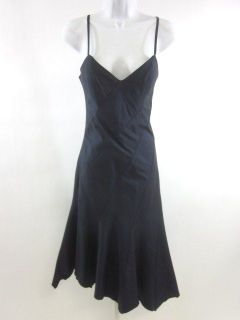 nwt renato nucci navy blue silk dress sz 36
