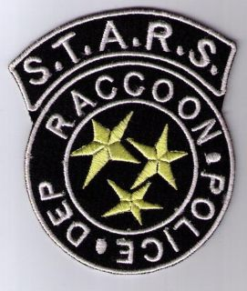 raccoon police resident evil stars patch iron on sew on