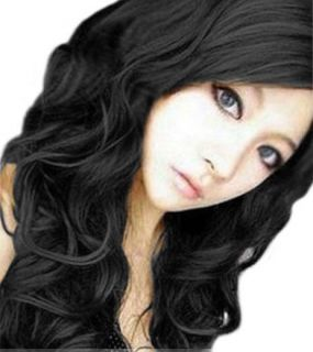 New Style Fashion Womens Long Curly Wave Natural Hair Full wig Wigs 3
