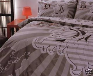 ROOKIE Griffin Embroidered Lion Taupe Red DOUBLE/KING SINGLE Quilt
