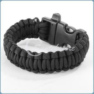 Newly listed Black New 550 Paracord Cord Bracelet Camping Survival
