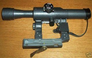 Sniper Rifle Scope SAIGA VEPR POSP 4x24 V 1000m Range Finder
