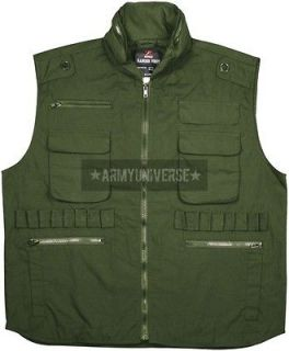 olive drab military tactical ranger vest with hood
