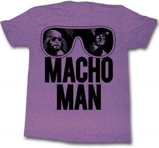 macho man randy savage old school purple t shirt