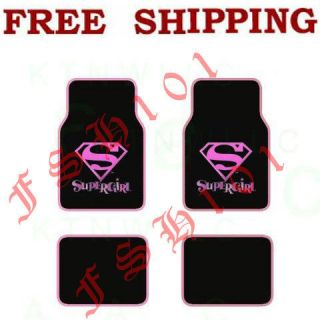 New Marvel Comics Pink Super Girl Super hero Car Floor Mats