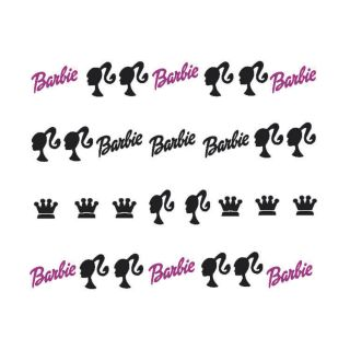 barbie doll nail art decals more options size time left