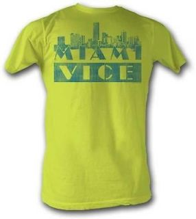 new licensed miami vice city scape adult t shirt s xxl