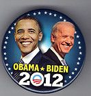 2012 OBAMA BIDEN JUGATE political campaign button pin pinback