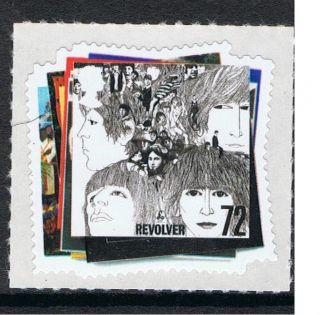 The Beatles   Revolver Album Cover illustrated on 2007 British Stamp