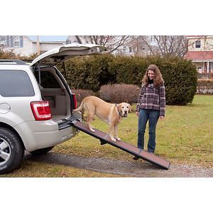 Full Length 71 Long Tri Fold Folding Pet Dog Travel Ramp Handle NEW