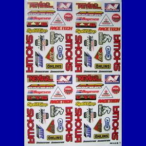 showa logo noleen mini sponsor ohlin kit sticker decal from